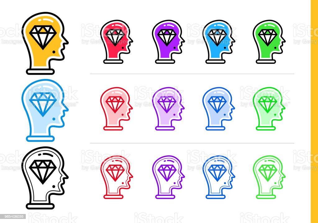 Icône idée géniale linéaire pour les entreprises de démarrage en différentes couleurs. Éléments vectoriels pour site Web, application mobile - clipart vectoriel de Affaires libre de droits