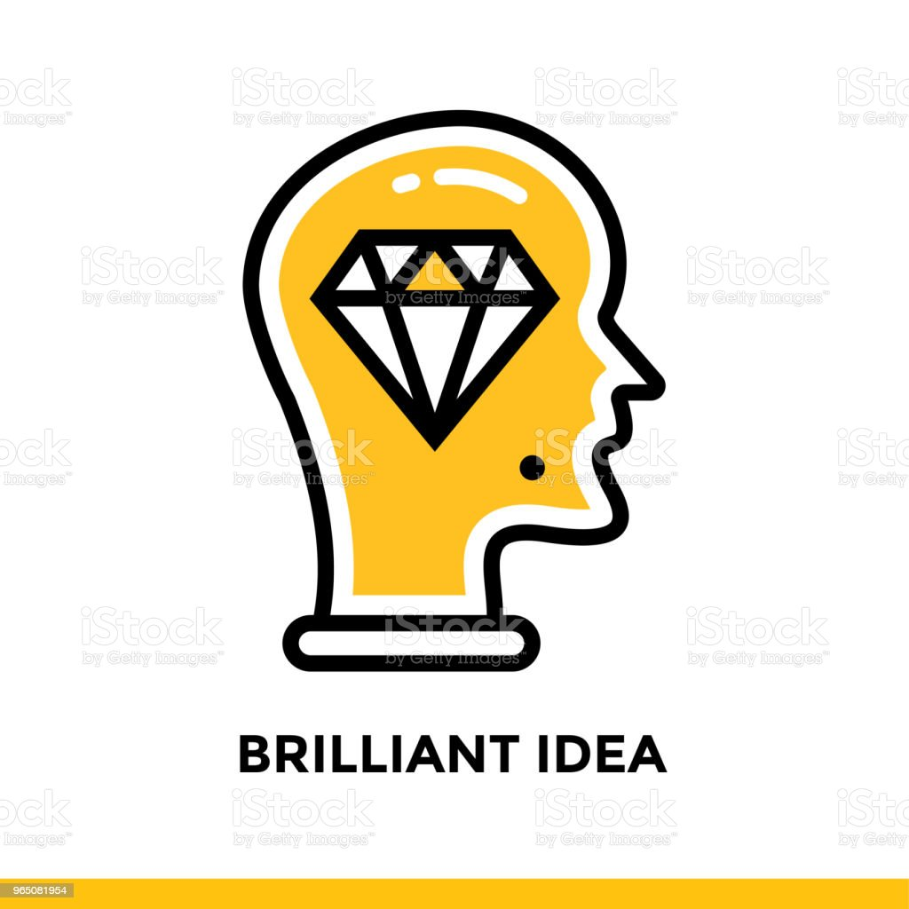 Linear brilliant idea icon for startup business. Pictogram in outline style. Vector flat line icon suitable for mobile apps, websites and presentation royalty-free linear brilliant idea icon for startup business pictogram in outline style vector flat line icon suitable for mobile apps websites and presentation stock vector art & more images of business