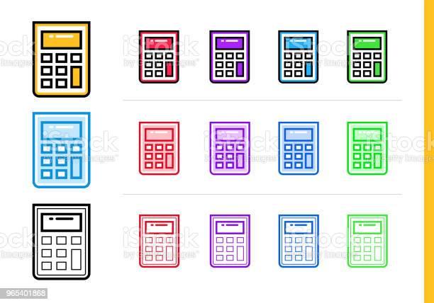 Lineare Rechnersymbol Für Startupunternehmen In Verschiedenen Farben Vektorelemente Für Website Mobile Anwendung Stock Vektor Art und mehr Bilder von Design