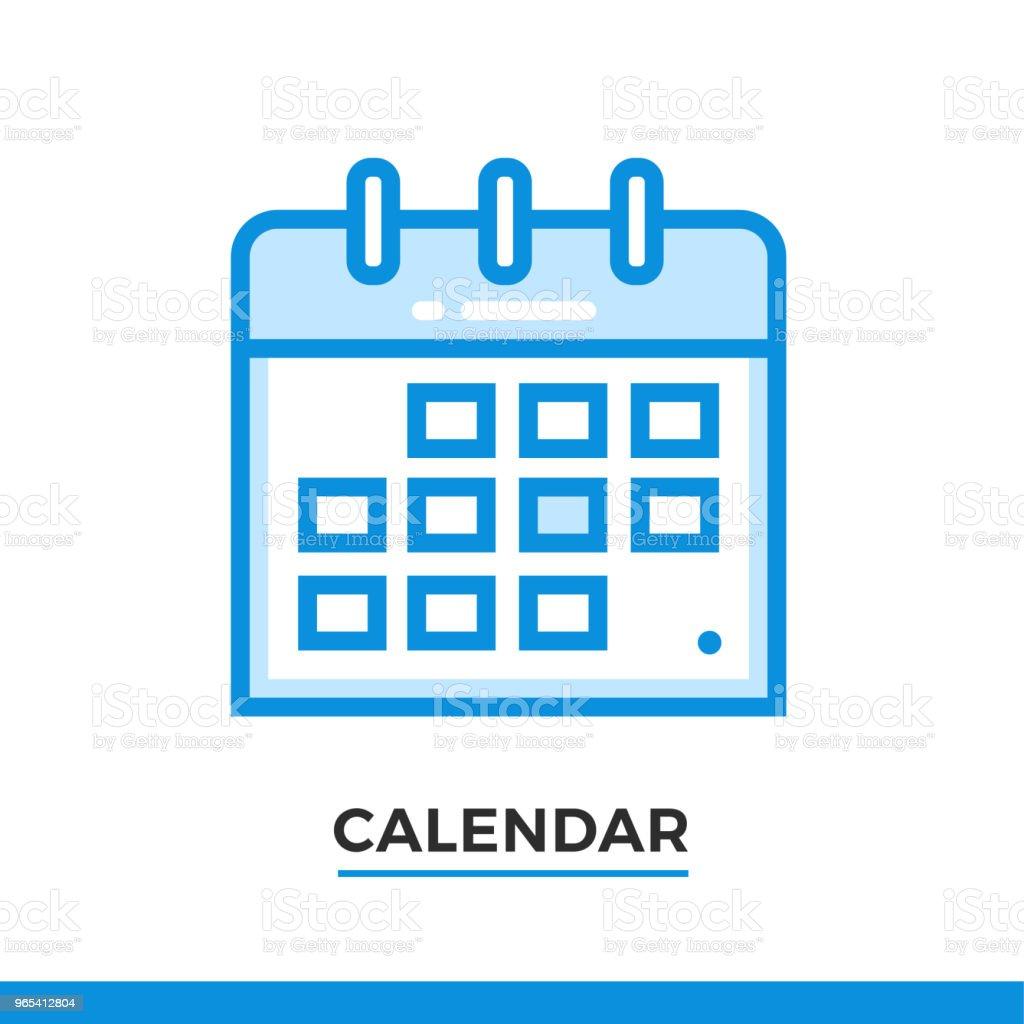 Linear calendar icon. Pictogram in outline style. Vector modern flat design element for mobile application and web design. linear calendar icon pictogram in outline style vector modern flat design element for mobile application and web design - stockowe grafiki wektorowe i więcej obrazów bez ludzi royalty-free