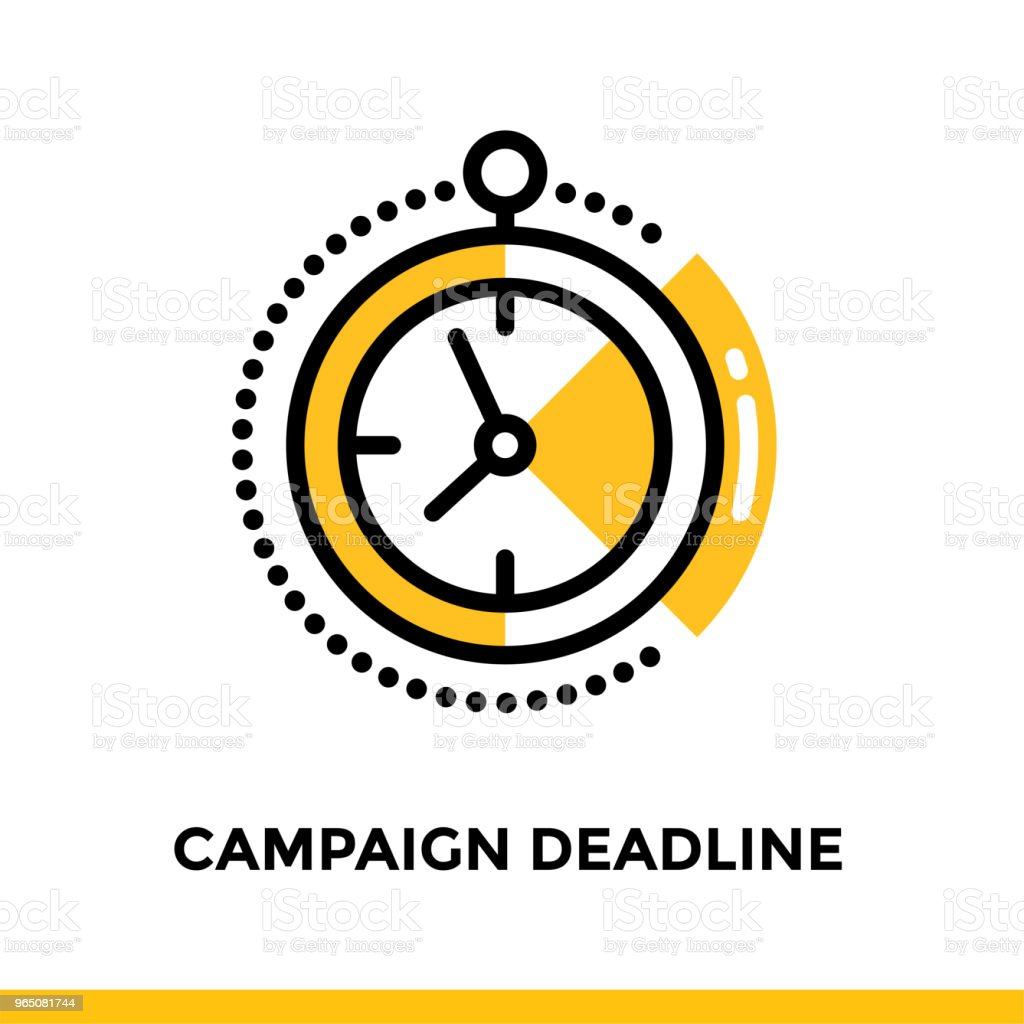 Linear campaign deadline icon for startup business. Pictogram in outline style. Vector flat line icon suitable for mobile apps, websites and presentation royalty-free linear campaign deadline icon for startup business pictogram in outline style vector flat line icon suitable for mobile apps websites and presentation stock vector art & more images of business