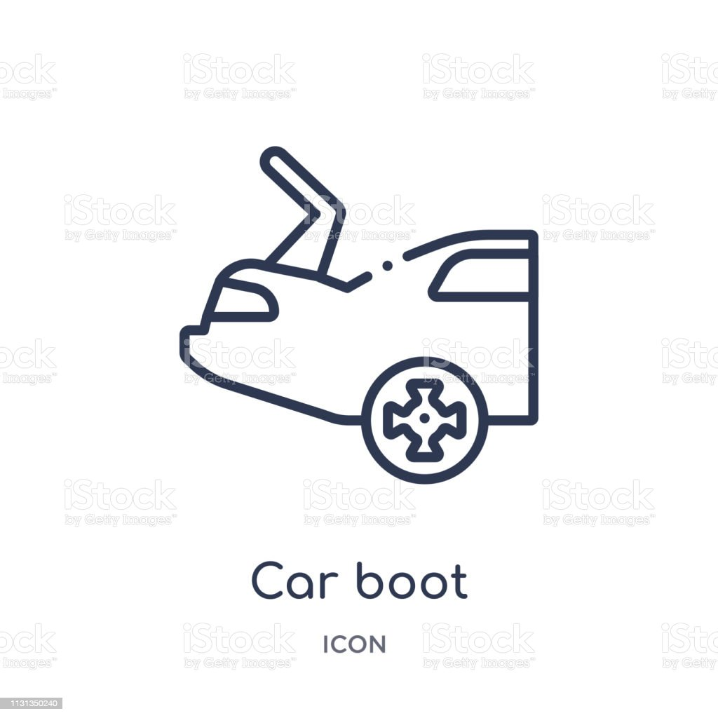 Linear Car Boot Icon From Car Parts Outline Collection Thin Line Car