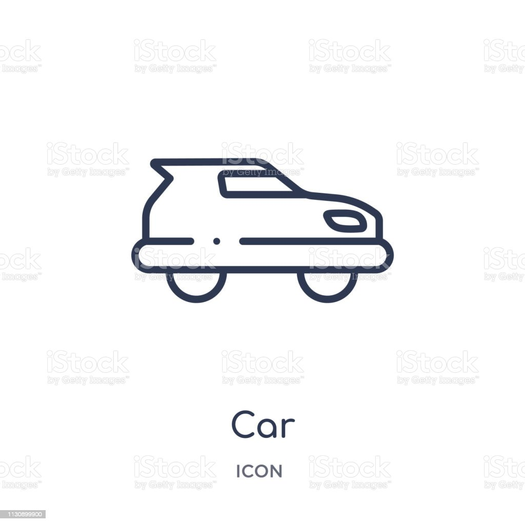 Linear car icon from Artifical intelligence outline collection. Thin line car vector isolated on white background. car trendy illustration vector art illustration