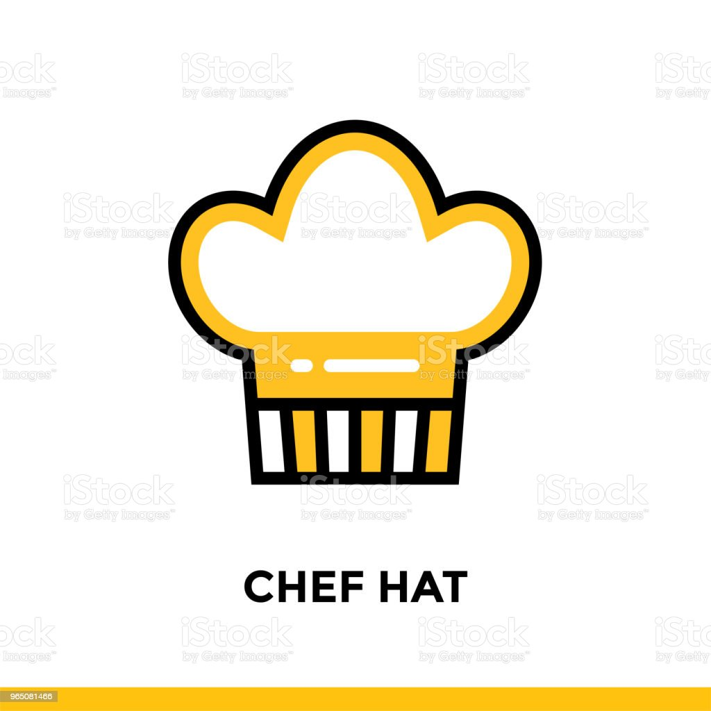 Linear CHEF HAT icon. Vector elements suitable for website and presentation royalty-free linear chef hat icon vector elements suitable for website and presentation stock vector art & more images of bakery