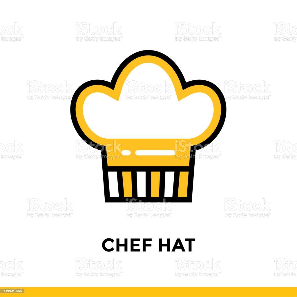 Linear CHEF HAT icon. Vector elements suitable for website and presentation linear chef hat icon vector elements suitable for website and presentation - stockowe grafiki wektorowe i więcej obrazów bez ludzi royalty-free