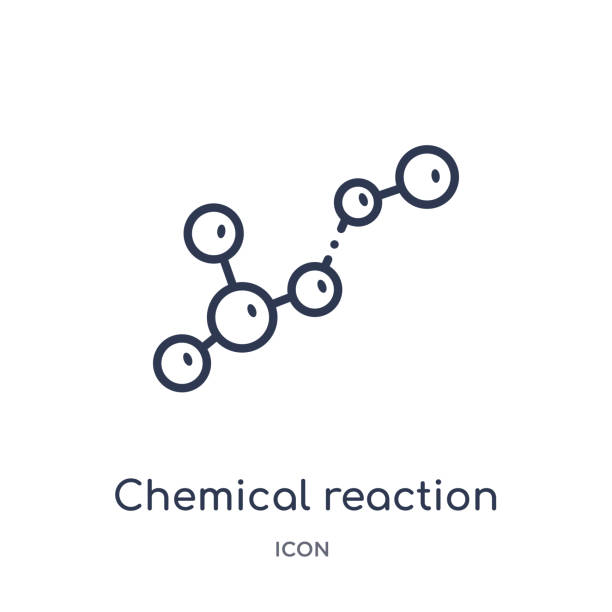 Linear chemical reaction icon from Chemistry outline collection. Thin line chemical reaction vector isolated on white background. chemical reaction trendy illustration Linear chemical reaction icon from Chemistry outline collection. Thin line chemical reaction vector isolated on white background. chemical reaction trendy illustration chemical reaction stock illustrations