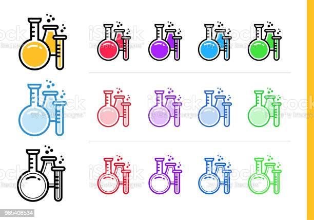 Vetores de Ícone De Química Linear Para A Educação Ícones De Linha Vetor Apropriados Para Informação Gráfica Mídia Impressa E Interfaces e mais imagens de Contorno
