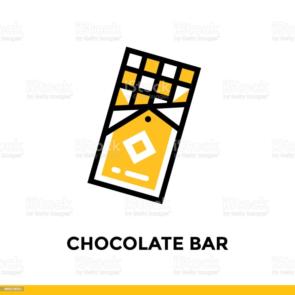 Linear CHOCOLATE BAR icon. Vector elements suitable for website and presentation linear chocolate bar icon vector elements suitable for website and presentation - stockowe grafiki wektorowe i więcej obrazów bez ludzi royalty-free