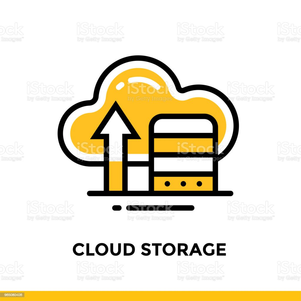 Linear cloud storage icon for startup business. Pictogram in outline style. Vector flat line icon suitable for mobile apps, websites and presentation royalty-free linear cloud storage icon for startup business pictogram in outline style vector flat line icon suitable for mobile apps websites and presentation stock vector art & more images of business