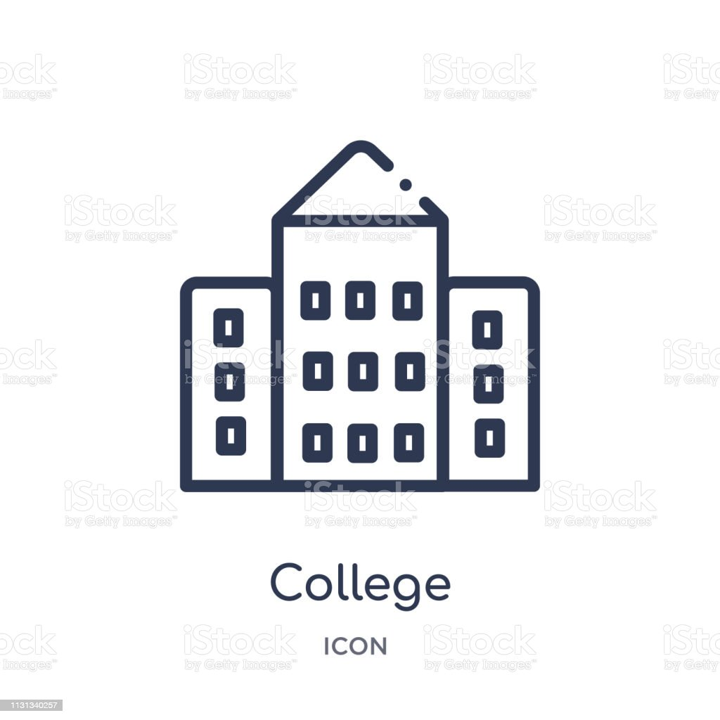 Linear College Icon From Buildings Outline Collection Thin Line