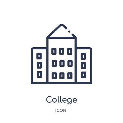 Linear College Icon From Buildings Outline Collection Thin