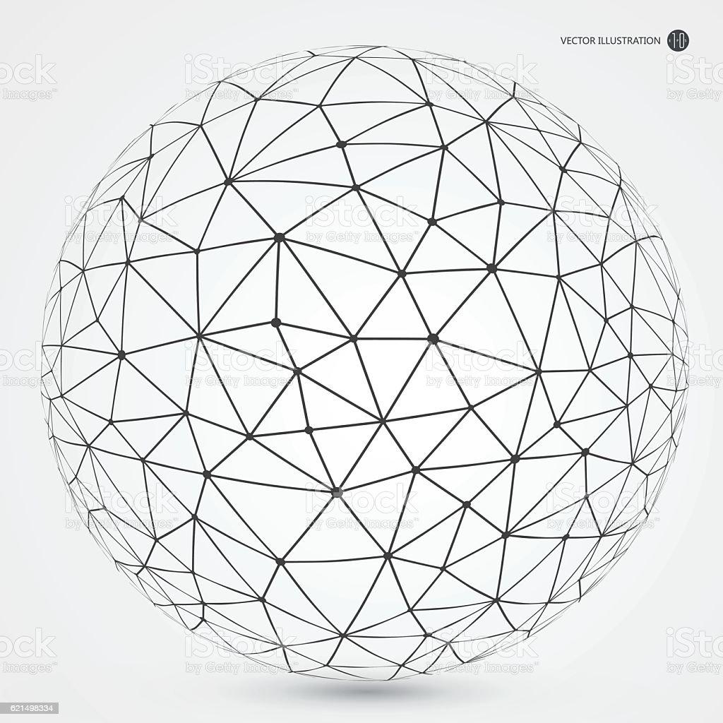 Linear connection made of circular abstract image. linear connection made of circular abstract image – cliparts vectoriels et plus d'images de carré - composition libre de droits