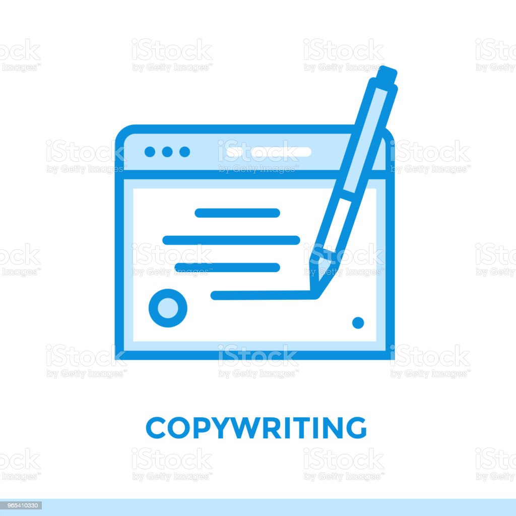 Linear copywriting icon for startup business. Pictogram in outline style. Vector flat line icon suitable for mobile apps, websites and presentation royalty-free linear copywriting icon for startup business pictogram in outline style vector flat line icon suitable for mobile apps websites and presentation stock illustration - download image now