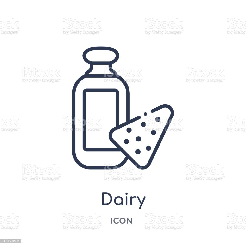 Linear Dairy Icon From Food Outline Collection Thin Line