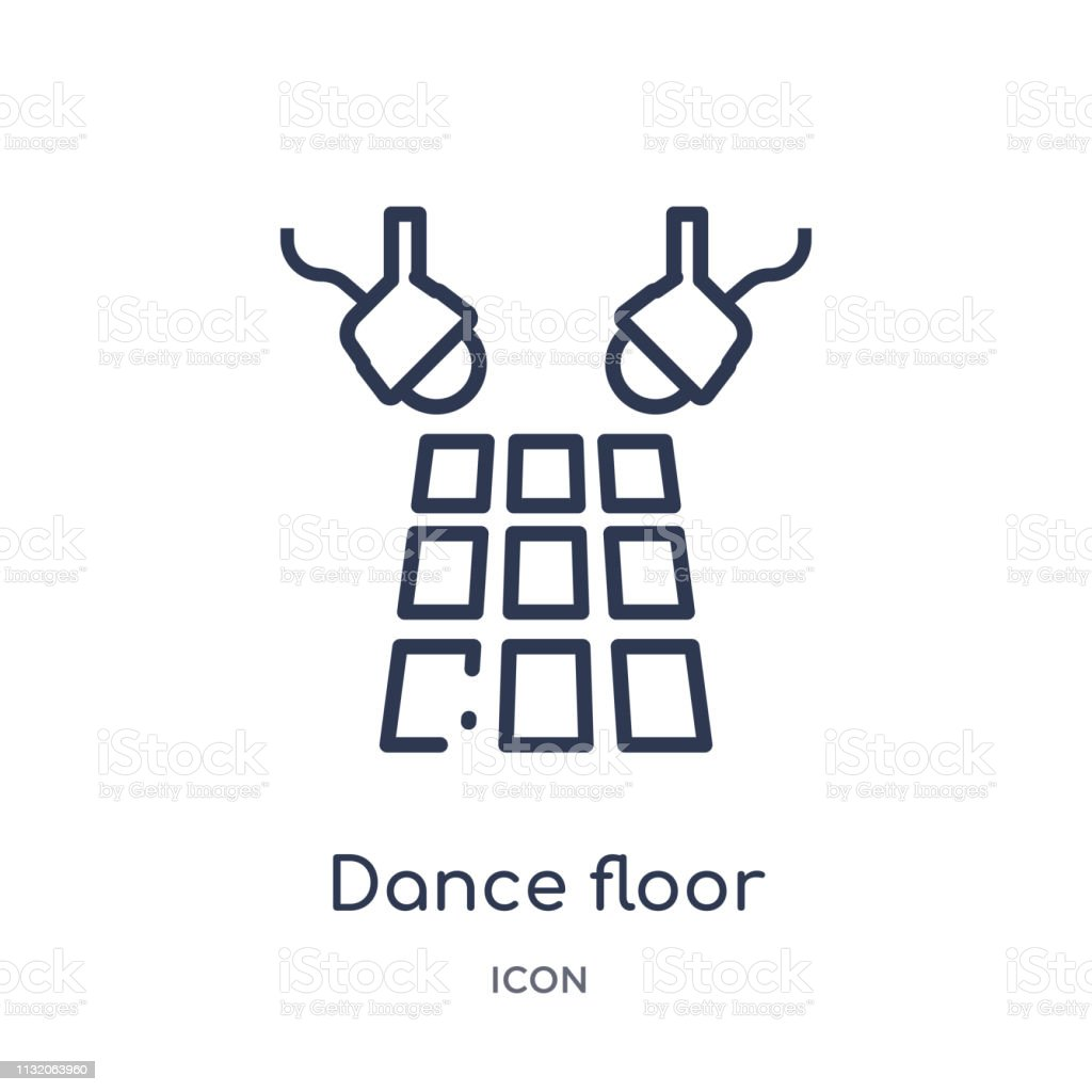 Linear dance floor icon from Discotheque outline collection. Thin...