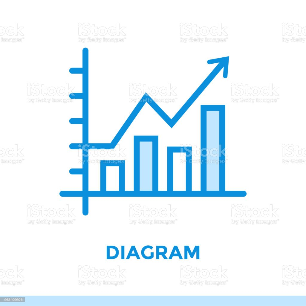 Linear diagram icon for new business. Pictogram in outline style. Vector modern flat icon suitable for print, presentation and website royalty-free linear diagram icon for new business pictogram in outline style vector modern flat icon suitable for print presentation and website stock vector art & more images of business