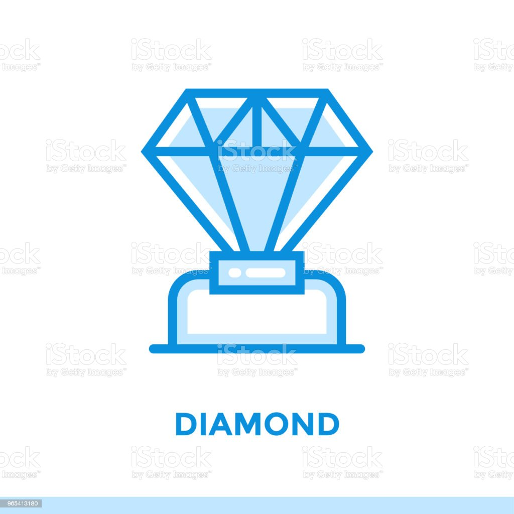 Linear diamond icon for new business. Pictogram in outline style. Vector modern flat icon suitable for print, presentation and website royalty-free linear diamond icon for new business pictogram in outline style vector modern flat icon suitable for print presentation and website stock vector art & more images of business
