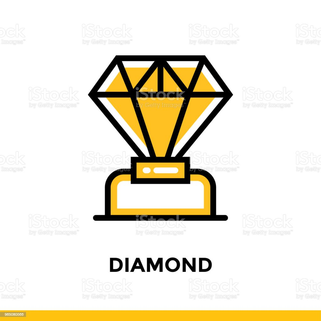 Linear diamond icon for startup business. Pictogram in outline style. Vector flat line icon suitable for mobile apps, websites and presentation royalty-free linear diamond icon for startup business pictogram in outline style vector flat line icon suitable for mobile apps websites and presentation stock vector art & more images of business