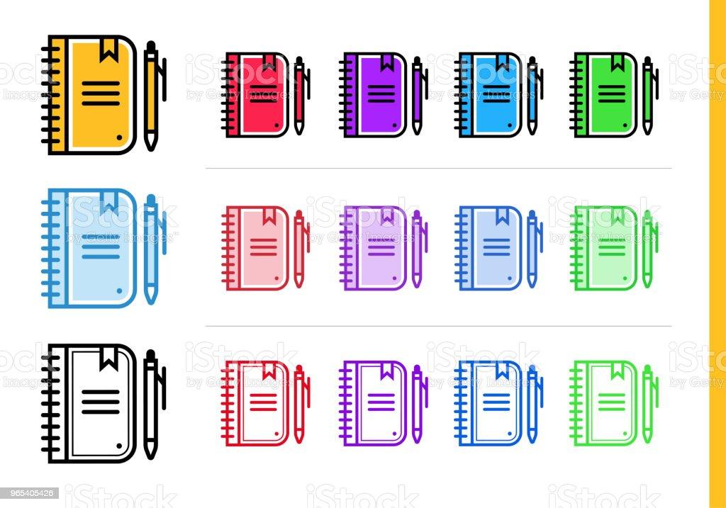 Linear DIARY  icon for education. Vector line icons suitable for info graphics, print media and interfaces linear diary icon for education vector line icons suitable for info graphics print media and interfaces - stockowe grafiki wektorowe i więcej obrazów grafika wektorowa royalty-free