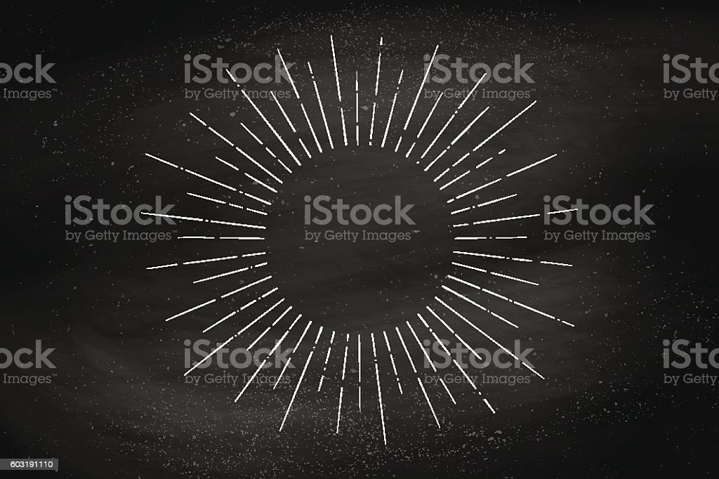 Linear drawing of light rays, sunburst royalty-free linear drawing of light rays sunburst stock illustration - download image now