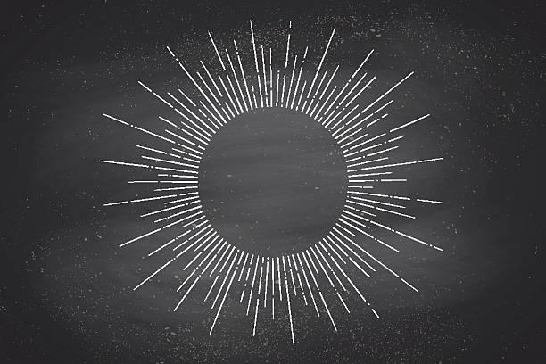 linear drawing of light rays, sunburst - 光 黒背景点のイラスト素材/クリップアート素材/マンガ素材/アイコン素材
