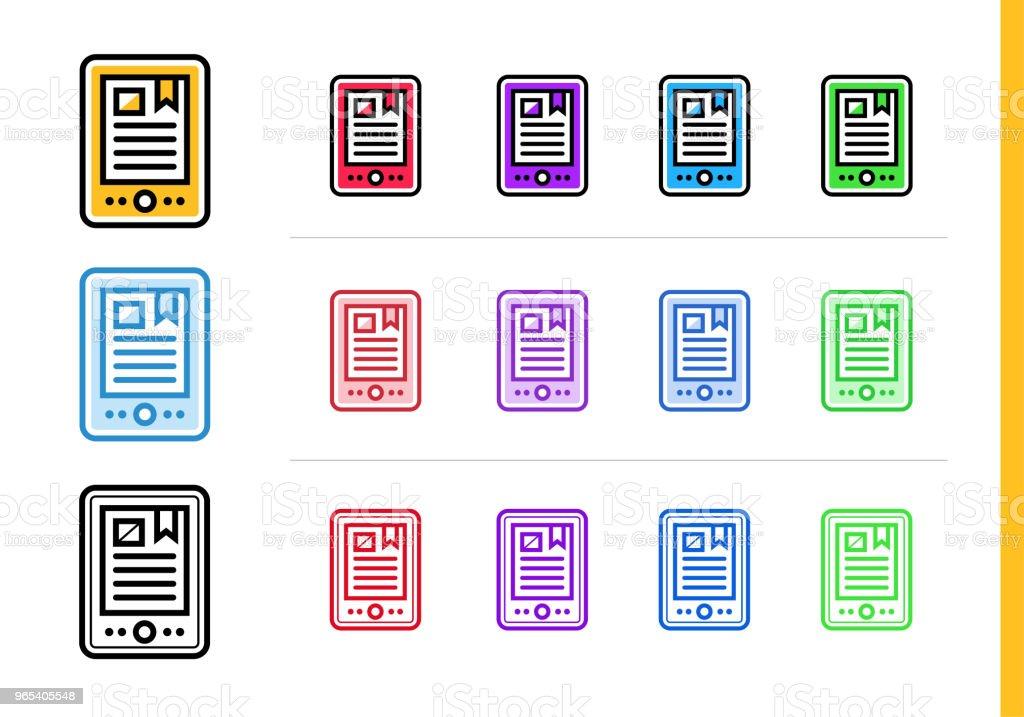 Linear E-BOOK icon for education. Vector line icons suitable for info graphics, print media and interfaces linear ebook icon for education vector line icons suitable for info graphics print media and interfaces - stockowe grafiki wektorowe i więcej obrazów grafika wektorowa royalty-free