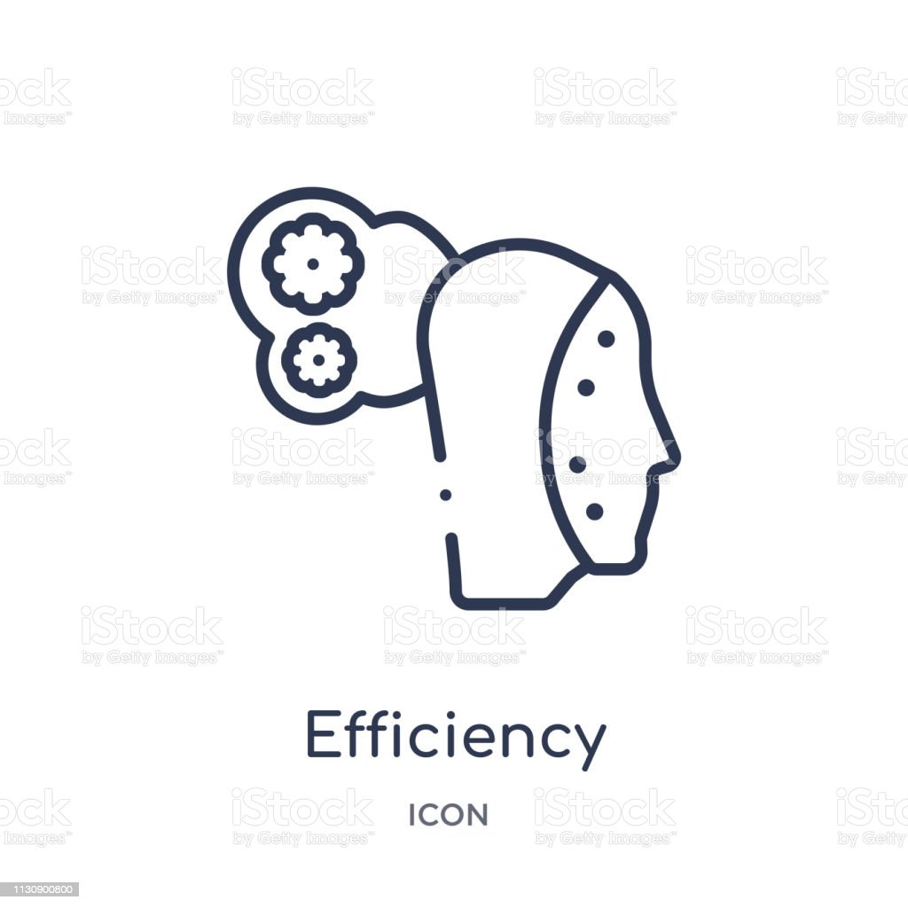Linear efficiency icon from Artifical intelligence outline collection. Thin line efficiency vector isolated on white background. efficiency trendy illustration vector art illustration
