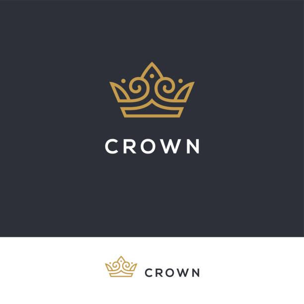 線形優雅的皇冠圖示。 - 皇冠 頭飾 幅插畫檔、美工圖案、卡通及圖標