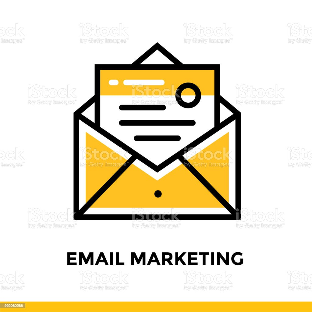Linear email marketing icon for startup business. Pictogram in outline style. Vector flat line icon suitable for mobile apps, websites and presentation royalty-free linear email marketing icon for startup business pictogram in outline style vector flat line icon suitable for mobile apps websites and presentation stock vector art & more images of business