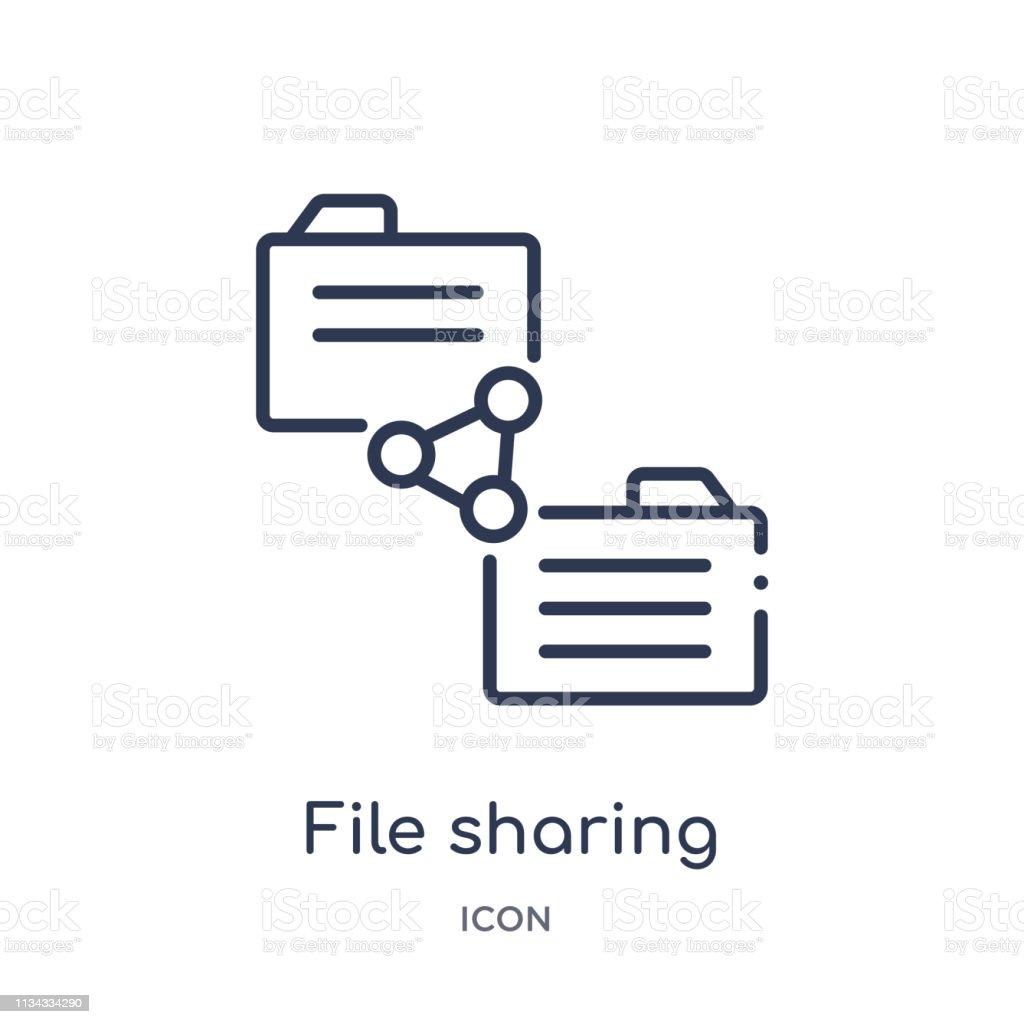 Vetores de Ícone De Compartilhamento De Arquivo Linear Da