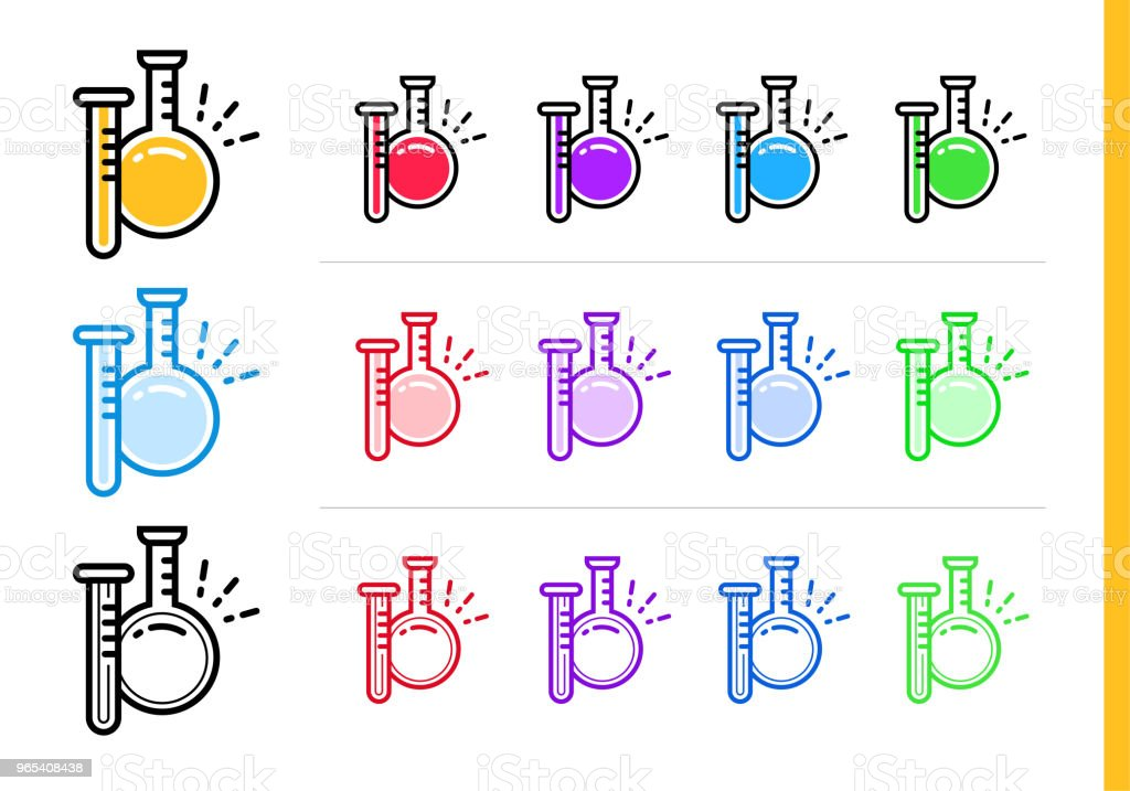Linear flask icon for startup business in different colors. Vector elements suitable for website, mobile application and presentation linear flask icon for startup business in different colors vector elements suitable for website mobile application and presentation - stockowe grafiki wektorowe i więcej obrazów badania royalty-free