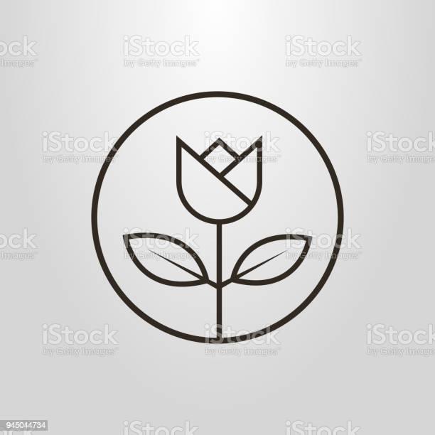 Linear flower icon in a round frame vector id945044734?b=1&k=6&m=945044734&s=612x612&h=d0p91tyrc271dozyk rhikbwehjmzgfhr4t3cuhahwg=