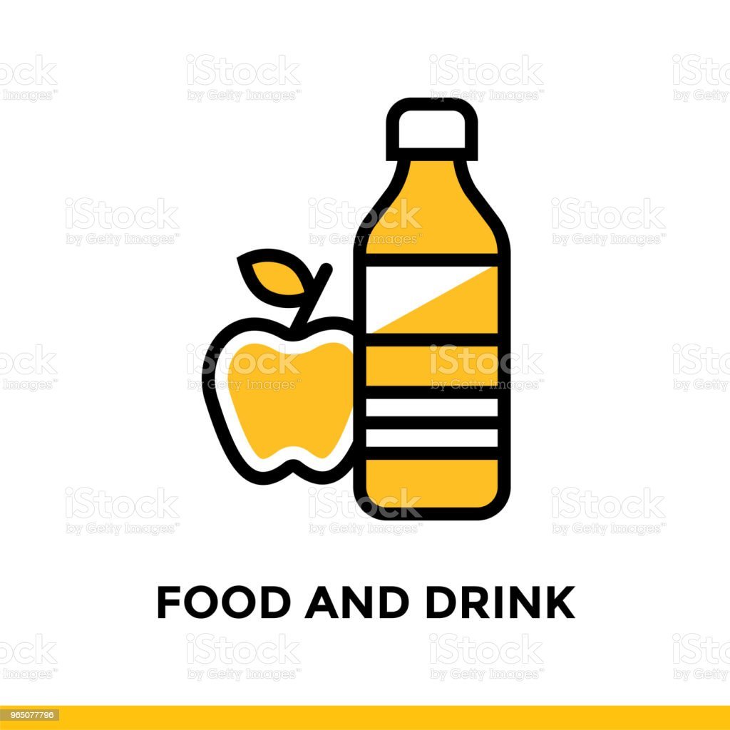 Linear FOOD AND DRINK icon for education. Pictogram in outline style. Vector modern flat design element for mobile application and web design royalty-free linear food and drink icon for education pictogram in outline style vector modern flat design element for mobile application and web design stock vector art & more images of design