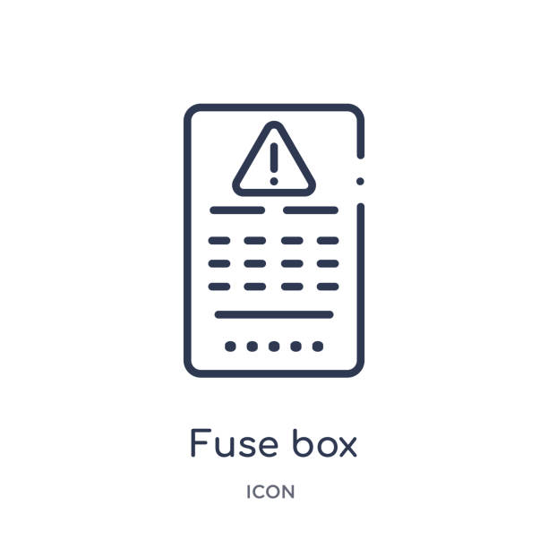 linear fuse box icon from electrian connections outline collection  thin  line fuse box vector isolated