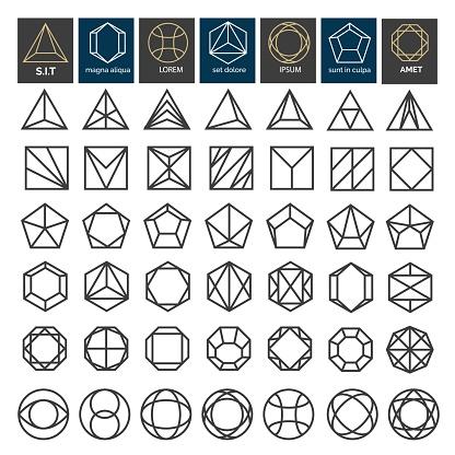 Linear geometric shapes