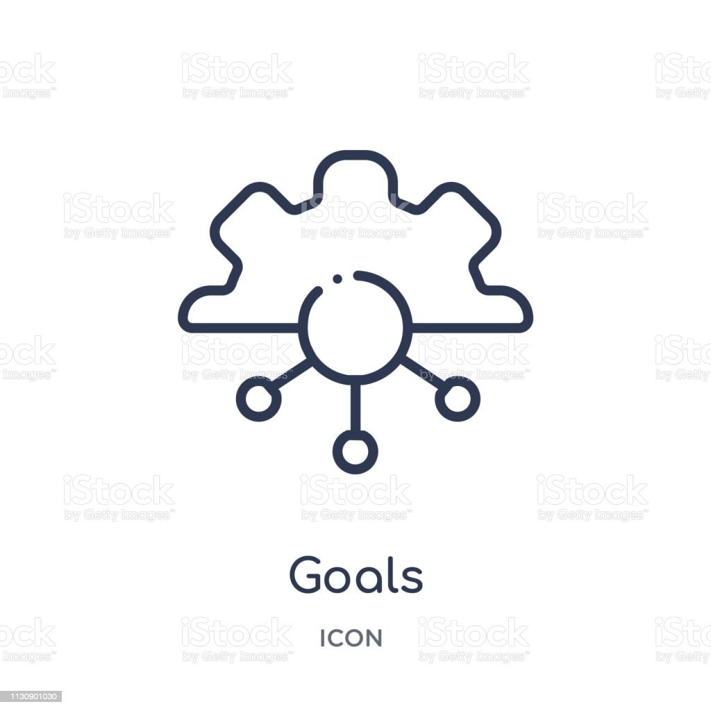 Linear goals icon from Artifical intelligence outline collection. Thin line goals vector isolated on white background. goals trendy illustration vector art illustration