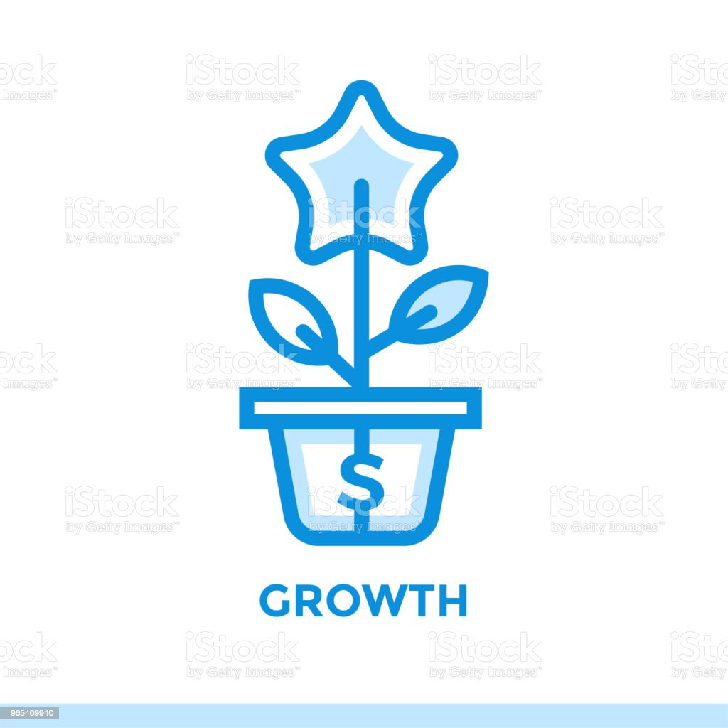 Linear growth icon for new business. Pictogram in outline style. Vector modern flat icon suitable for print, presentation and website royalty-free linear growth icon for new business pictogram in outline style vector modern flat icon suitable for print presentation and website stock vector art & more images of business