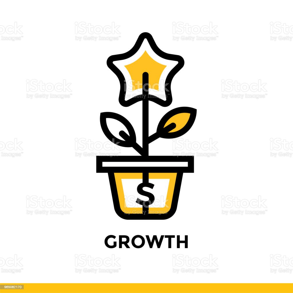 Linear growth icon for startup business. Pictogram in outline style. Vector flat line icon suitable for mobile apps, websites and presentation linear growth icon for startup business pictogram in outline style vector flat line icon suitable for mobile apps websites and presentation - stockowe grafiki wektorowe i więcej obrazów bez ludzi royalty-free