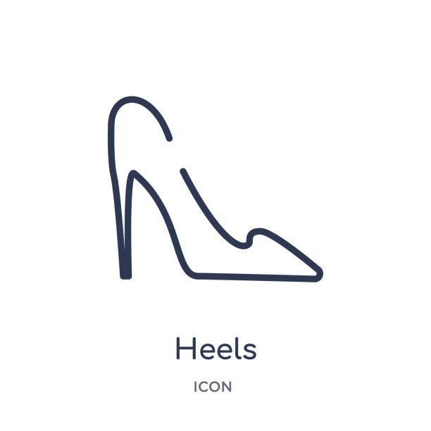 0dd390a22b24 Linear heels icon from Clothes outline collection. Thin line heels vector  isolated on white background