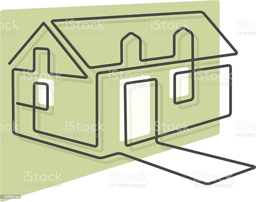 linear house royalty-free linear house stock vector art & more images of home ownership