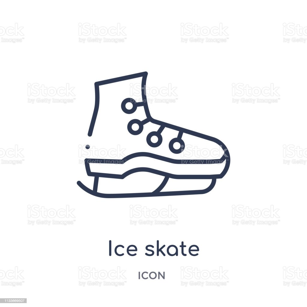 Linear ice skate icon from Hockey outline collection. Thin line ice...