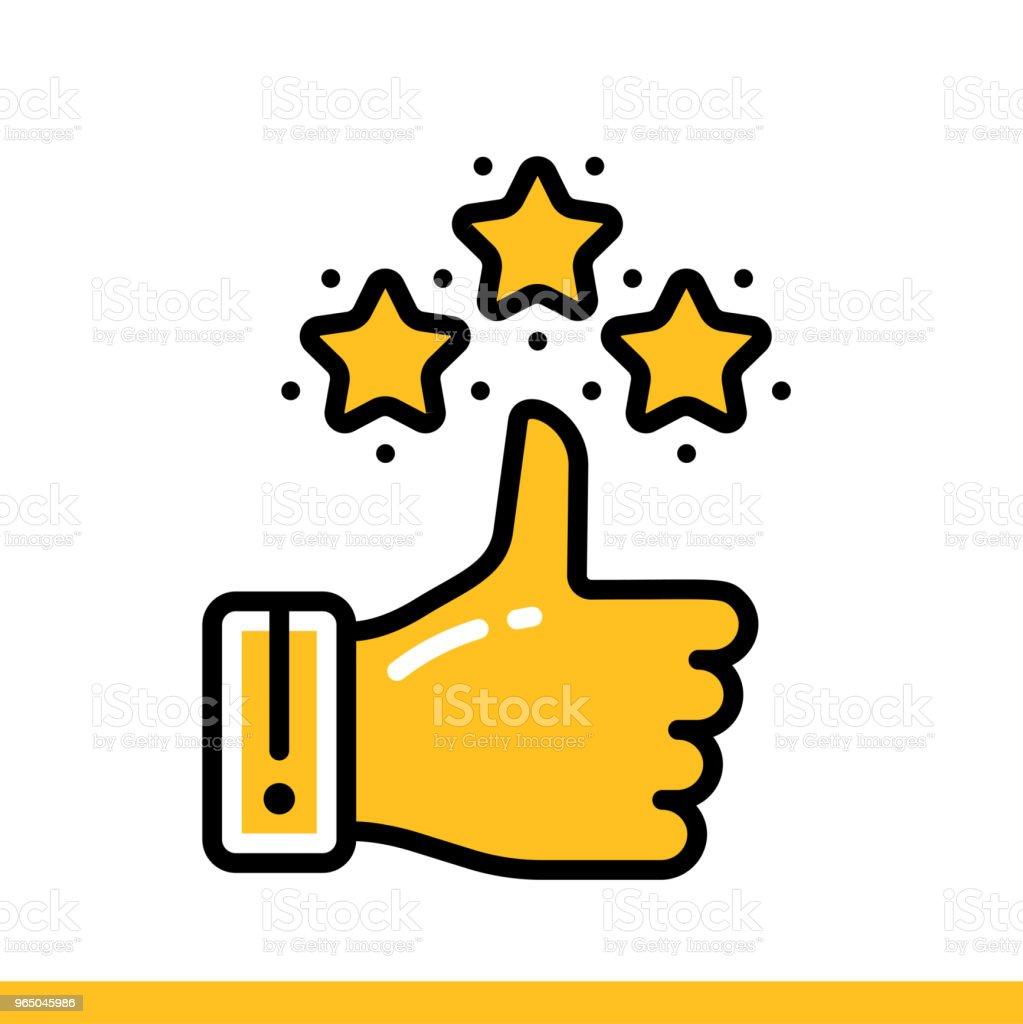 Linear icon Appreciation. Online education, e-learning. Suitable for print, interface, web, presentation linear icon appreciation online education elearning suitable for print interface web presentation - stockowe grafiki wektorowe i więcej obrazów bez ludzi royalty-free