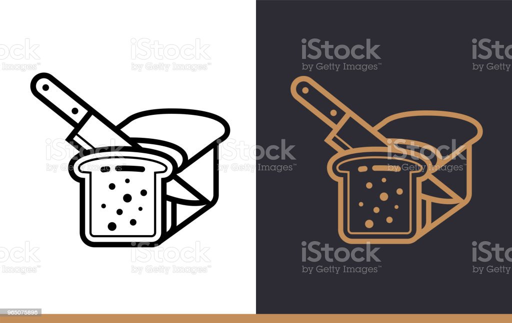 Linear icon BREAD SLICE of bakery, cooking. Vector pictogram suitable for websites, presentation and print media royalty-free linear icon bread slice of bakery cooking vector pictogram suitable for websites presentation and print media stock vector art & more images of bakery
