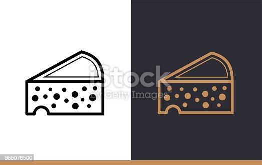 Linear Icon Cheese Of Bakery Cooking Vector Pictogram Suitable For Websites Presentation And Print Media - Stockowe grafiki wektorowe i więcej obrazów Bez ludzi 965076500