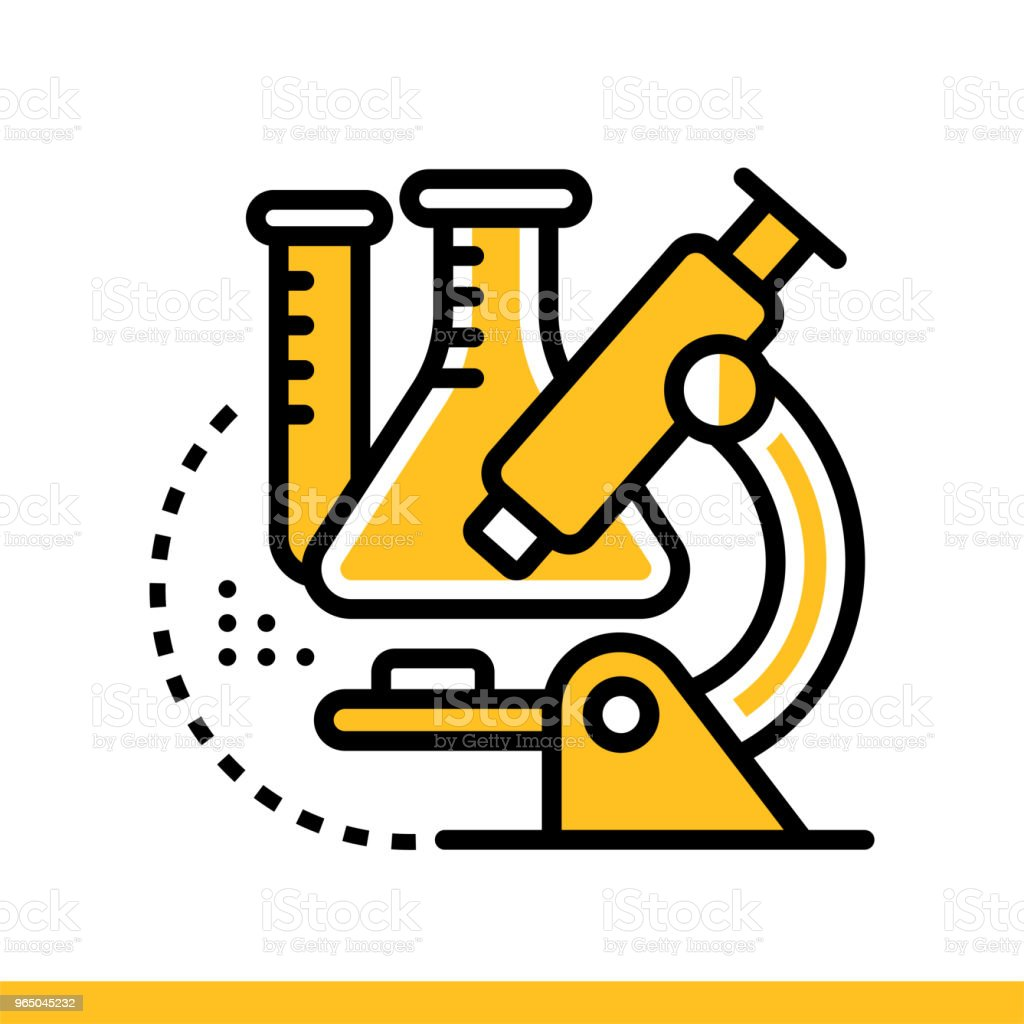 Linear icon Chemistry . Online education, e-learning. Suitable for print, interface, web, presentation linear icon chemistry online education elearning suitable for print interface web presentation - stockowe grafiki wektorowe i więcej obrazów bez ludzi royalty-free