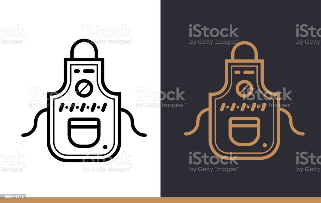 Linear icon COOK WEAR of bakery, cooking. Pictogram in outline style. Suitable for mobile apps, websites and presentation royalty-free linear icon cook wear of bakery cooking pictogram in outline style suitable for mobile apps websites and presentation stock vector art & more images of bakery