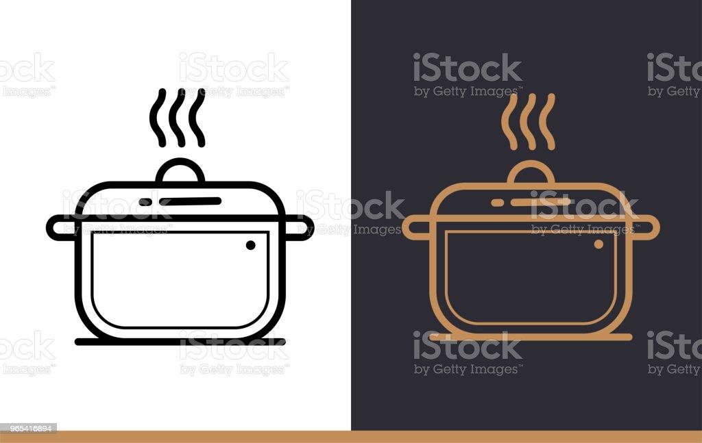 선형 아이콘 베이커리, 요리 냄비 요리. 개요 스타일에서 그림입니다. 모바일 응용 프로그램, 웹 사이트 및 프레 젠 테이 션에 적합 - 로열티 프리 0명 벡터 아트
