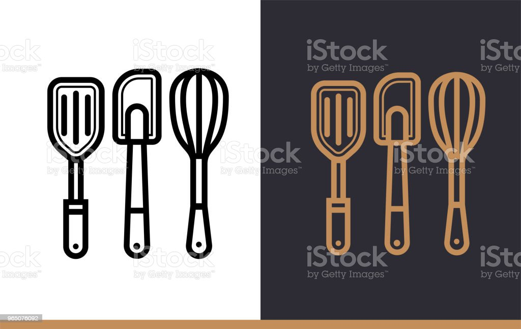 Linear icon COOKING TOOLS of bakery, cooking. Vector pictogram suitable for websites, presentation and print media royalty-free linear icon cooking tools of bakery cooking vector pictogram suitable for websites presentation and print media stock vector art & more images of bakery