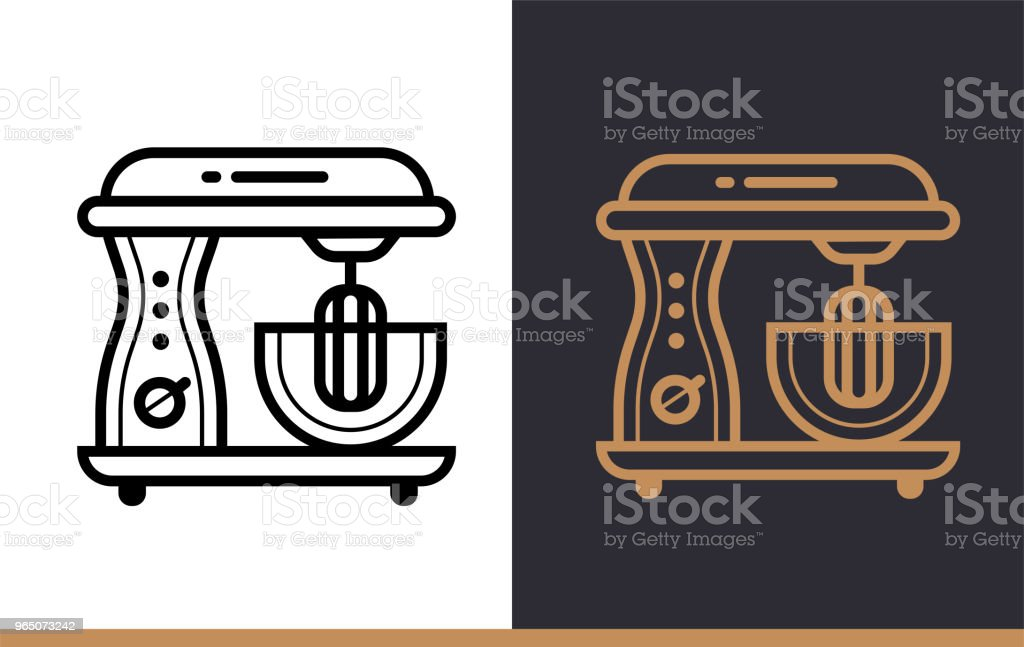 Linear icon ELECTRIC MIXER of bakery, cooking. Vector pictogram suitable for websites, presentation and print media royalty-free linear icon electric mixer of bakery cooking vector pictogram suitable for websites presentation and print media stock vector art & more images of bakery