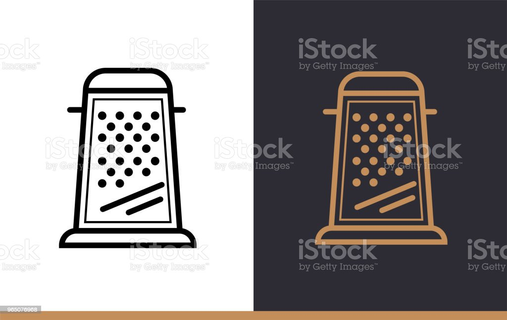 Linear icon GRATER of bakery, cooking. Vector pictogram suitable for websites, presentation and print media royalty-free linear icon grater of bakery cooking vector pictogram suitable for websites presentation and print media stock vector art & more images of no people